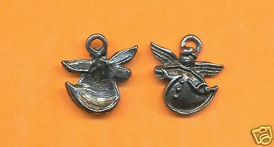 100 wholesale lead free pewter angel charms 1048