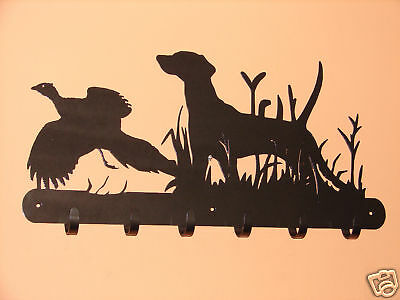 Bird Dog Pheasant Wall Coat Rack Robe Hook  Pointer