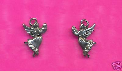 100 wholesale lead free pewter Angel charms 1132