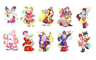 Chinese Paper Cuts -- Opera Characters