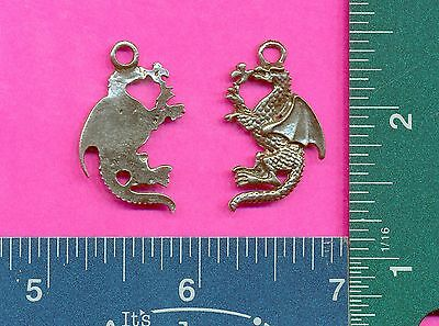 12 wholesale pewter empty dragon claw  pendants 4088