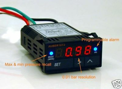 DIGITAL Boost Gauge, MAP Pressure Sensor, 4 bar/58 PSI