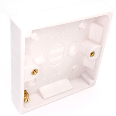 Surface Mount Back Box/Pattress Box 1 Gang 16mm 1G Slim
