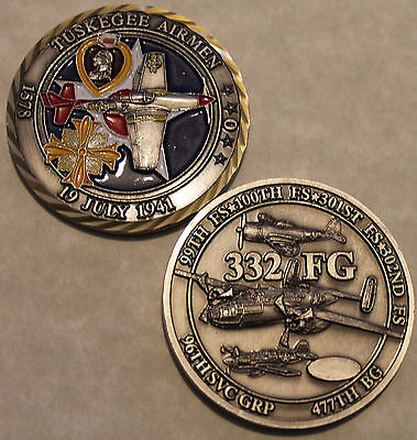 Tuskegee Airman 332 Fighter Group Army Air Force Challenge Coin CS