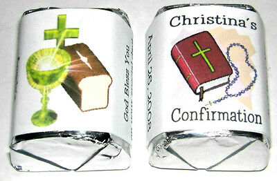 60 Confirmation Candy Wrappers Favors