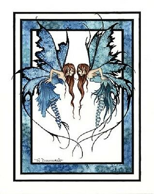 Amy Brown Print The Disagreement Fairy Fight Faery NEW