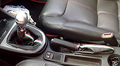 Alfa Romeo 147/Gt 00/09 Gear+Handbrake Gaiters Leather
