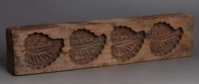 Antique Folk Wooden Carved Pixie & Flower Template! Old Ethnic Ritual! Chinese