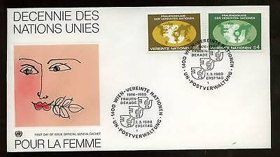United Nations Vienna 1980 Decade For Women FDC