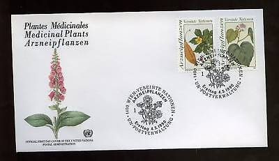 United Nations Vienna 1990 Medical Plants FDC