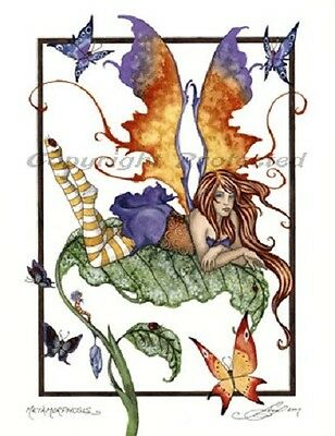 Amy Brown Print Metamorphosis Garden Fairy Butterfly Faery Fantasy Art Decor new