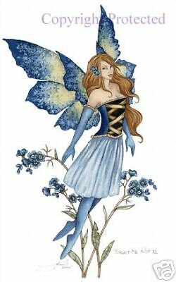 Amy Brown Forget Me Not II 11x17 Fairy Print Faery NEW