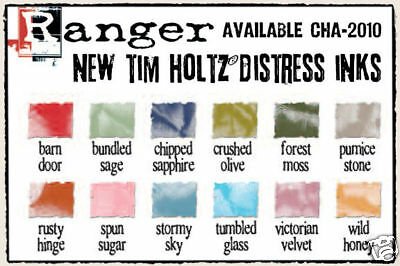 Tim Holtz Distress Ink LOT 2010 Pads REINKERS FREE SHIP