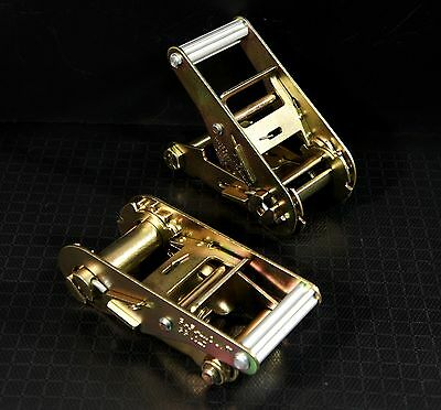 """2 Ratchet Handles for Tow Dolly Car Hauler Flat Bed 2"""" Ratchet Strap Tie Down"""