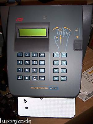 NEW ADP HandPunch 4000 Biometric Full Punch w/ Ethernet w/ 1 Year Warrantee