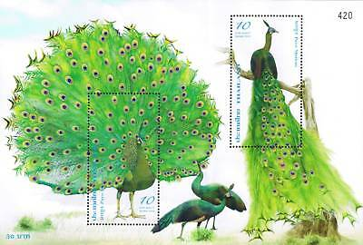 Thailand Stamp 2008 Peacock (Birds, Fowl) S/S
