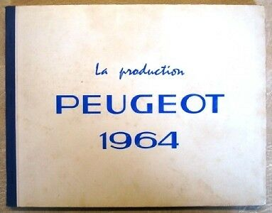 Peugeot Complete Production Sales Guide For 1964.