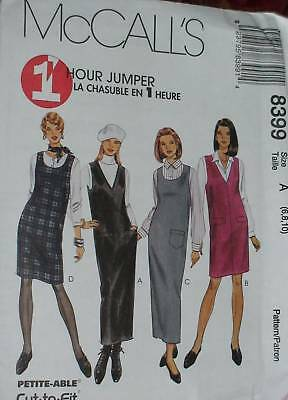 8399 McCalls SEWING Pattern Misses 1 HOUR EZ Jumper UNCUT Easy Casual Fall SEW