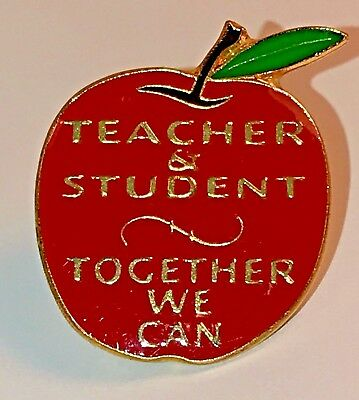 """TEACHER & STUDENT, TOGETHER...""Lapel Pins (25) NEW!"