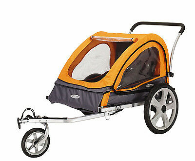 New Instep Quick N Ez Double Bike Bicycle Trailer Stroller Coupler Baby Child
