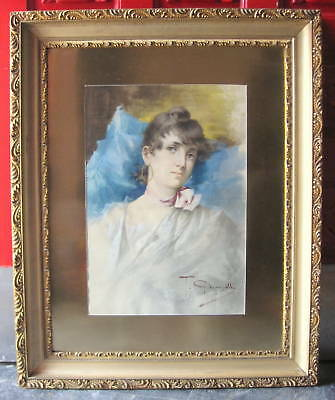 T. Giacomelli 19th C Fine & Rare Italian Water Color Painting    MAGNIFICENT