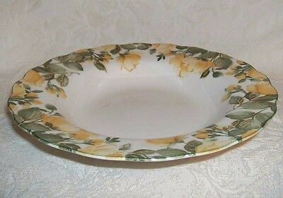 Nikko GRACIOUS Yellow Roses RIMMED SOUP BOWL