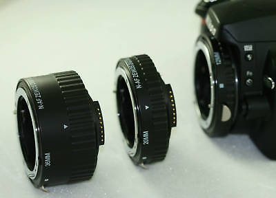 Macro Automatic Extension Tube Set Canon 100mm 60mm 18-55mm 75-300mm 50mm 55-250