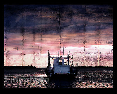 BIG Surreal NAUTICAL Boat Art Photograph Florida WRIGHT