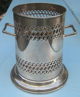 1933 English Birmingham Sterling Silver Two Handle Wine Bucket   MAGNIFICENT