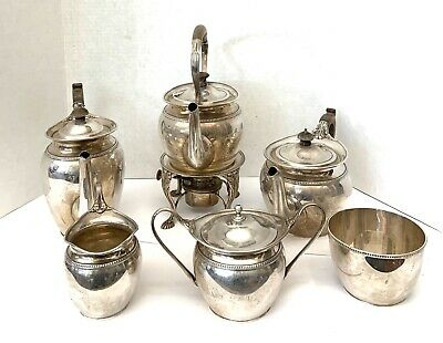 1923 Six Piece English Sterling Tea & Coffee Set   MAGNIFICENT