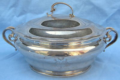 Fine 19th C. French Sterling Silver Tureen Covered Dish MAGNIFICENT