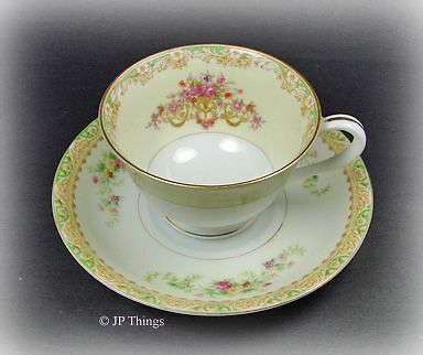 Noritake Multi Floral Cup and Saucer Marriage