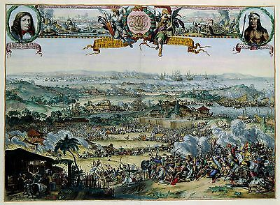 Conquest of Macassar CornelisSpeelman Dutch East India COMPANY Old Poster Print