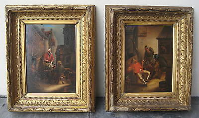 A. Foselli 19 C. Pair of Italian Oil on Panel Paintings   MAGNIFICENT