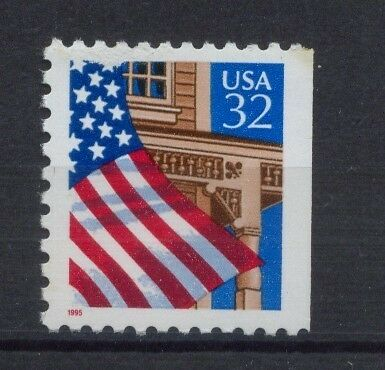 USA 1995 SG#3013 Flag Over Porch MNH Right Imperf