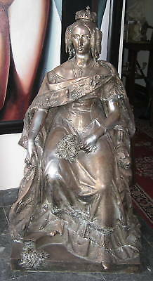 Jean Jaquet French 1878 Circa Of Marie Therese Bronze Statue 42''H   MAGNIFICENT