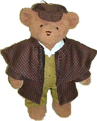 LINDON JOINTED BEAR 16inch/40cm TALL AS SHERLOCK HOLMES RRP £54 ON OFFER AT £39