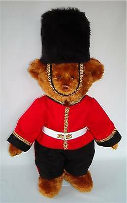 LINDON JOINTED BEAR 16inch/40cm TALL AS LONDON GUARDSMAN RRP £45 ON OFFER AT £30