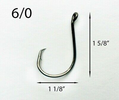 10 PACK Size 10//0 Custom Offshore Tackle Offset Circle Fishing Hooks 7384