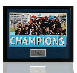 England Cricket World Champions Framed Press Photograph
