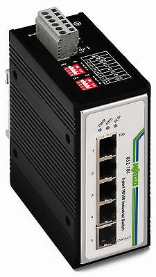 852-101 Wago Ethernet Switch 5 Port 100 BASE-TX Industrie 100Base-TX 10Base-T