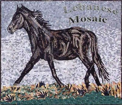 Horse Mosaic Marble Pattern Wall/Floor Tile