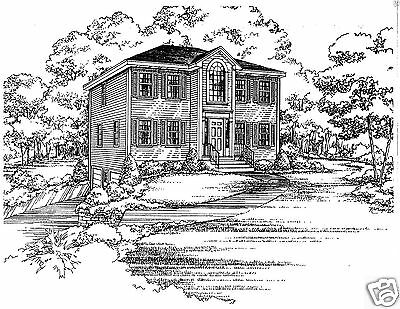 3 Bdrm 1 1/2 Bath 1544 SF Opt 2 Car Under Hip Roof Colonial House Building Plans