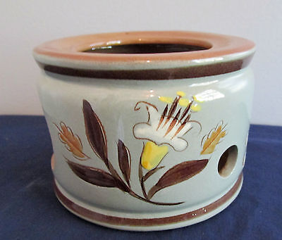 Golden Harvest by Stangl White Tan Flowers CHINA Warmer Stand