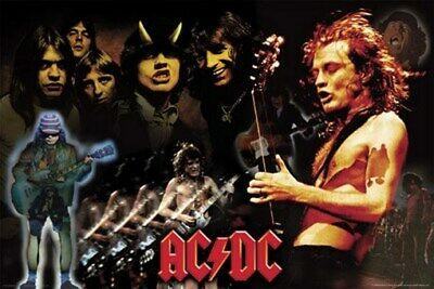 AC/DC POSTER Collage HOT RARE ACDC 24X36