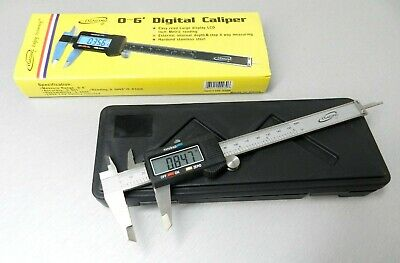 "6 Inch - 150mm DIGITAL CALIPER Electronic VERNIER Gauge 0-6"" STAINLESS STEEL LCD"