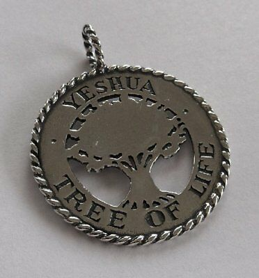 Sterling Silver 925 Yeshua Tree Of Life *New* Pendant