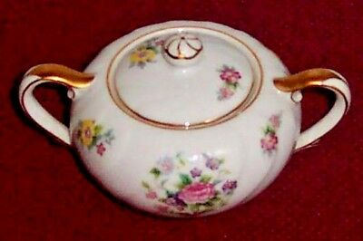 Proposal by Swirl China Floral Center Sugar Bowl w/ Lid