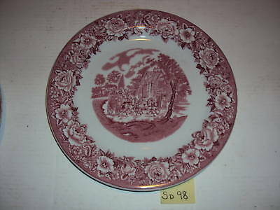 Rare  Shenango China Red Lion Inn Stage Coach Plates 5 Sd98A