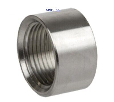 """Half Coupling 150# 304 Stainless 1/2"""" Npt Brewing Pipe Fitting  873.wh"""